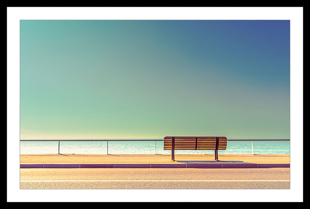 Affiche paysage pause balnéaire Affiche sous cadre noir