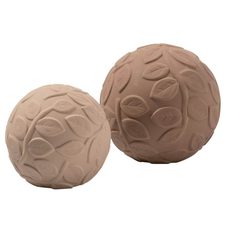 Set de 2 balles sensorielles en caoutchouc naturel Beige