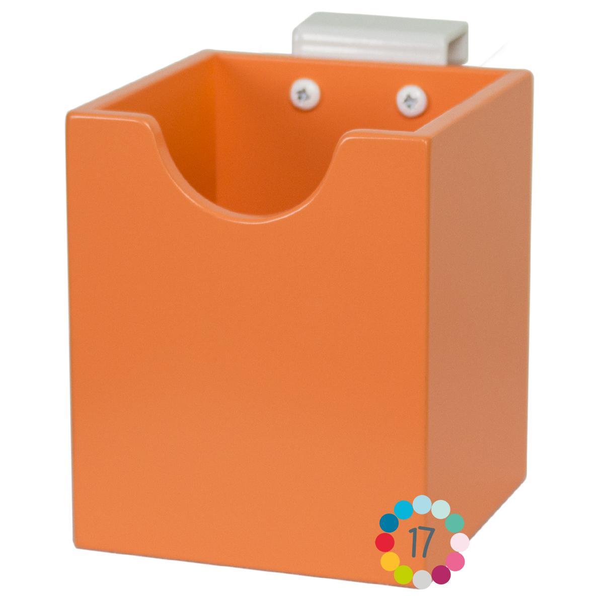 Boite à stylos orange