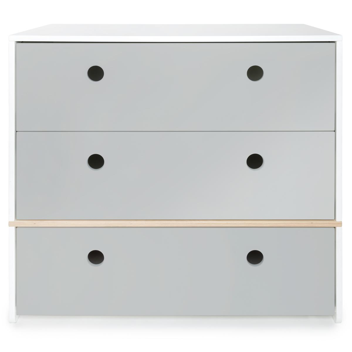 Commode gris perle