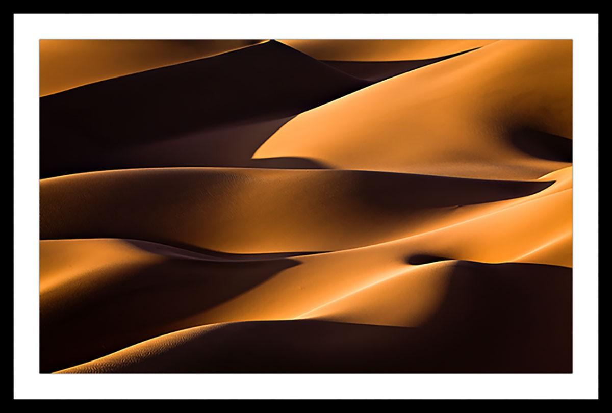 Affiche paysage dune et lumière Affiche sous cadre noir