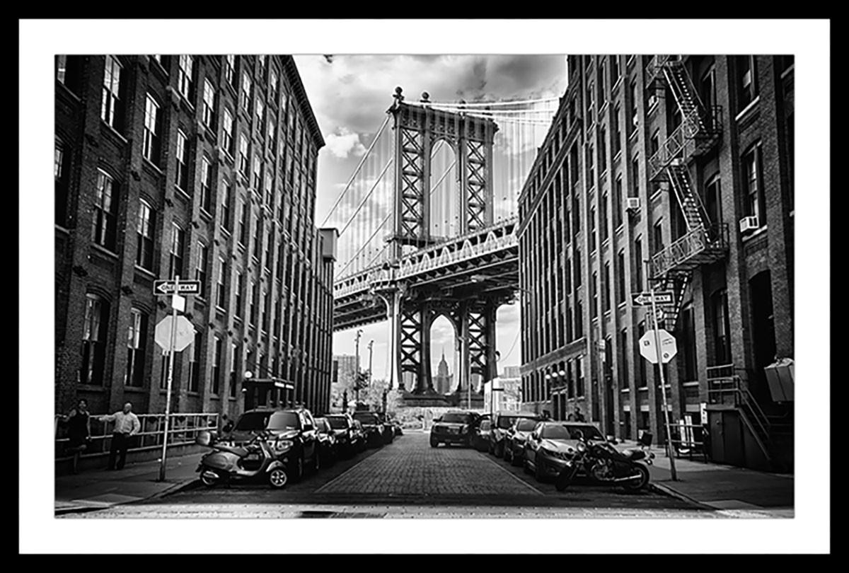 Affiche dumbo brooklyn bridge Affiche sous cadre noir