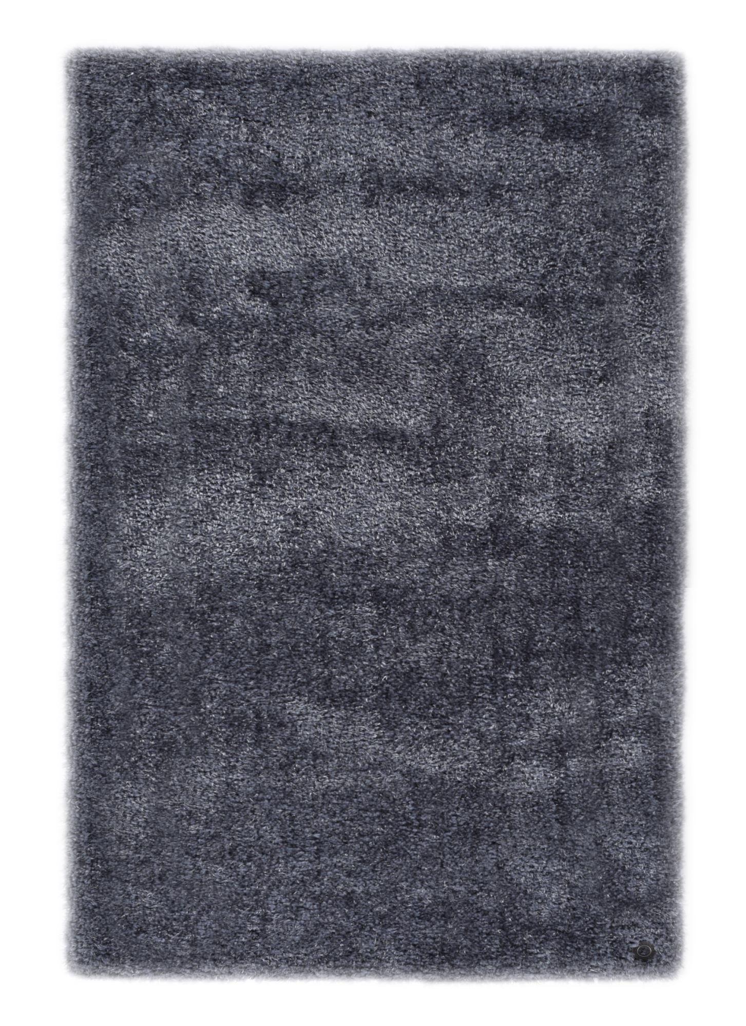 Tapis brilliant shaggy - à  longs poils - épais - Anthracite 160x230