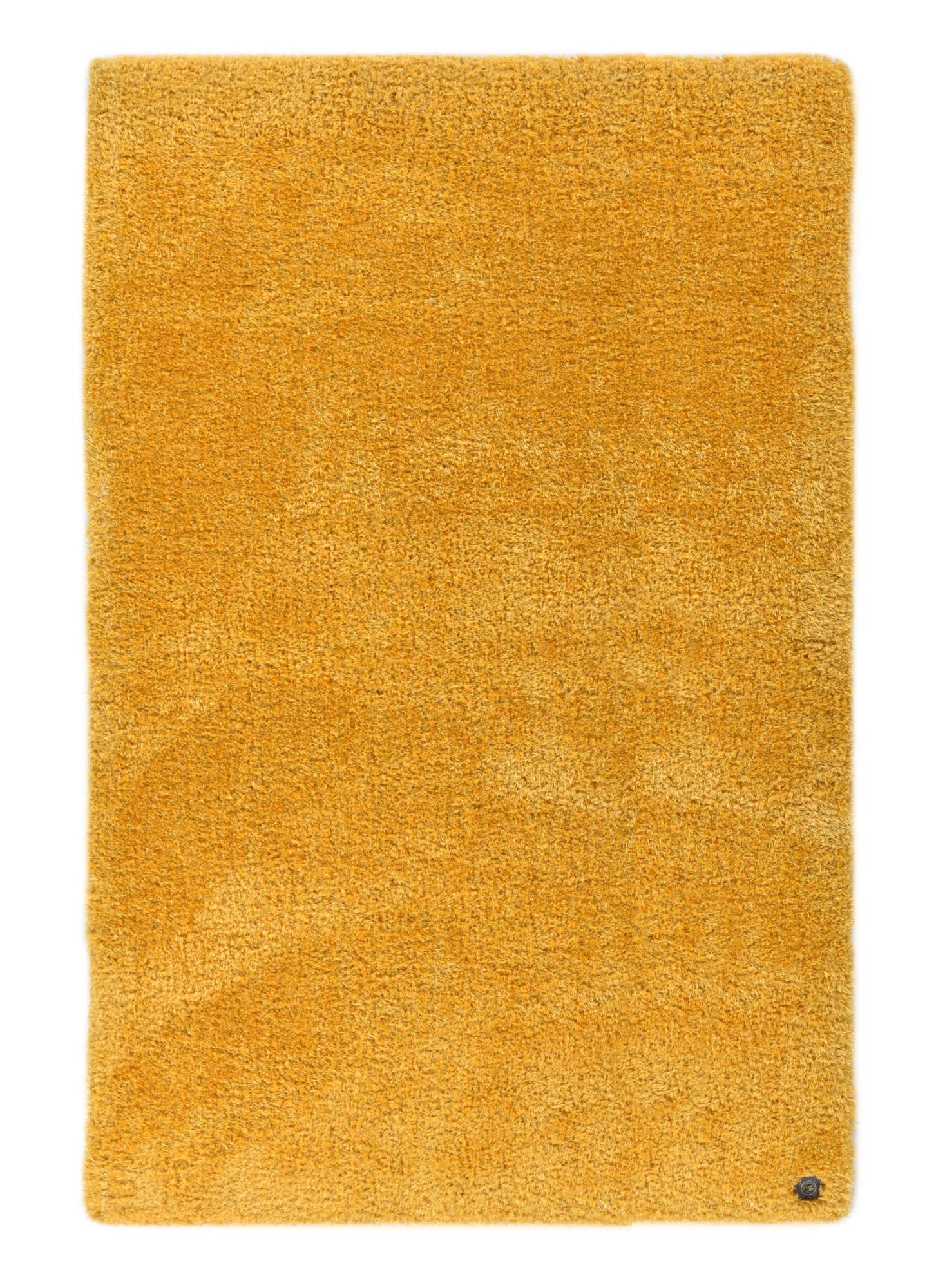 Tapis brilliant shaggy - à  longs poils - épais - Tournesol 65x135