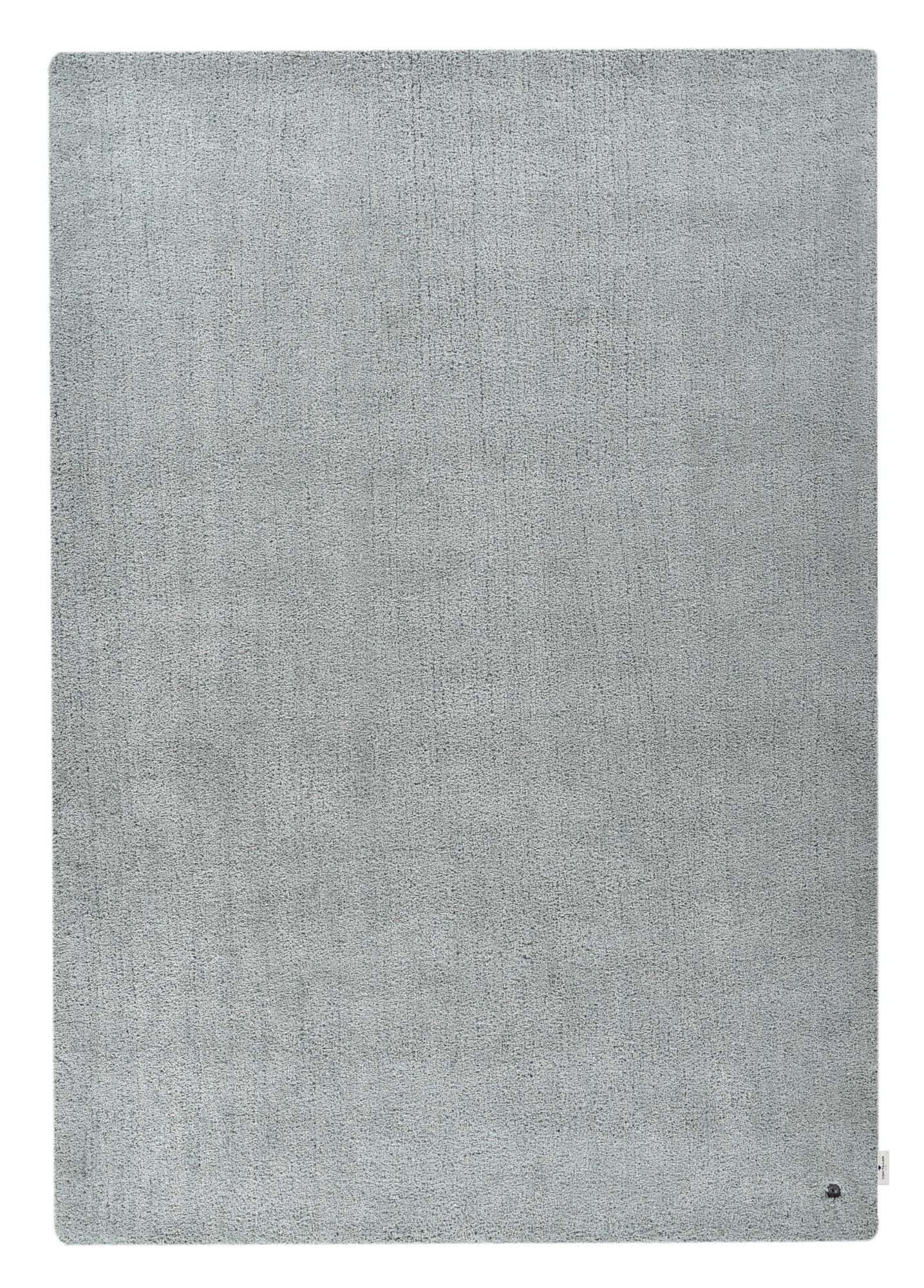 Tapis shaggy - tufté à la main - en polyester - menthe 65x135 cm