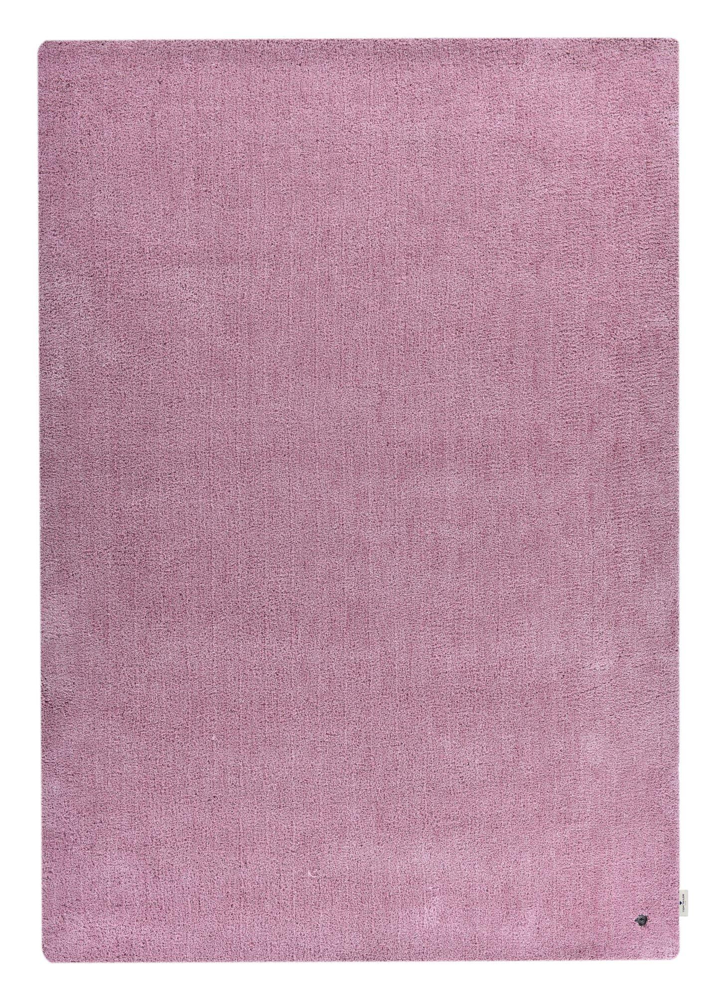 Tapis shaggy - tufté à la main - en polyester - rose 65x135 cm