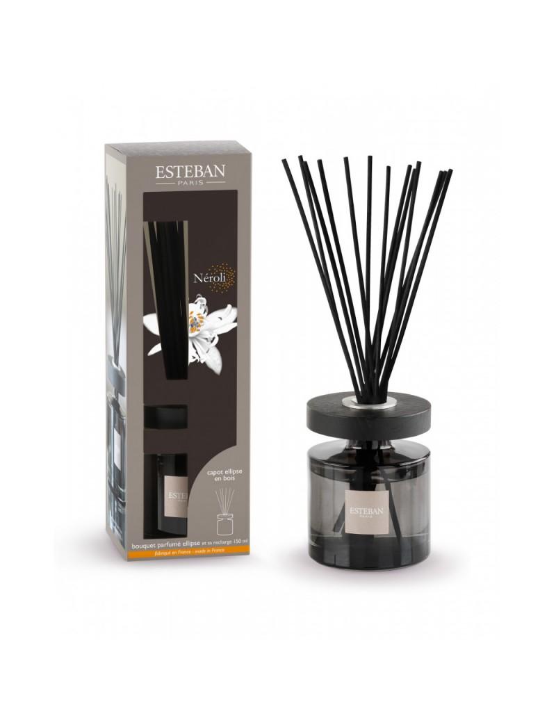 Bouquet parfumé ellipse et sa recharge 150ml Néroli - Esteban