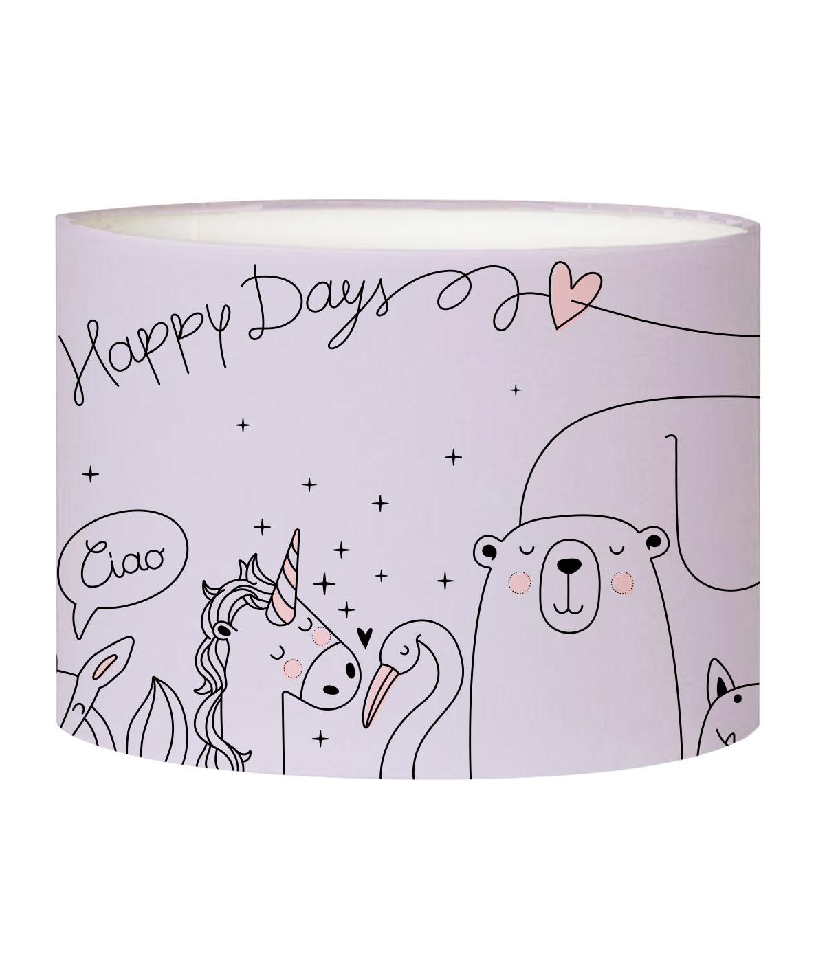 Abat-jour lampadaire enfant Happydays lavande D 45 x H 25