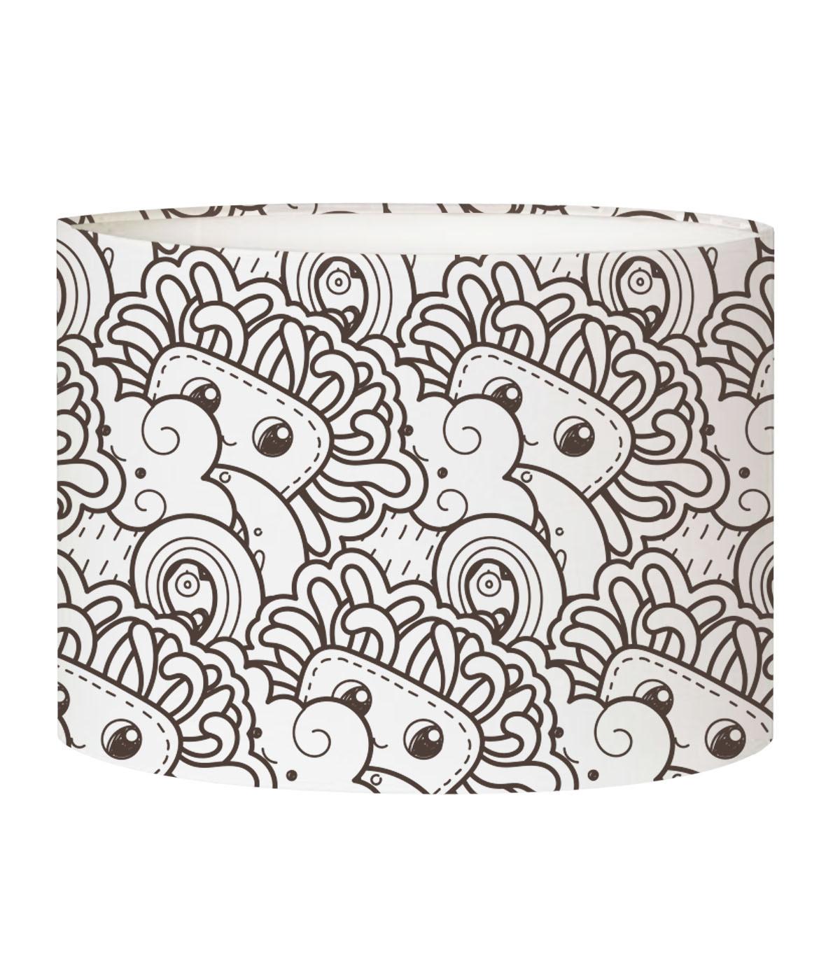 Abat-jour lampadaire enfant doodle Tendre D 45 x H 25