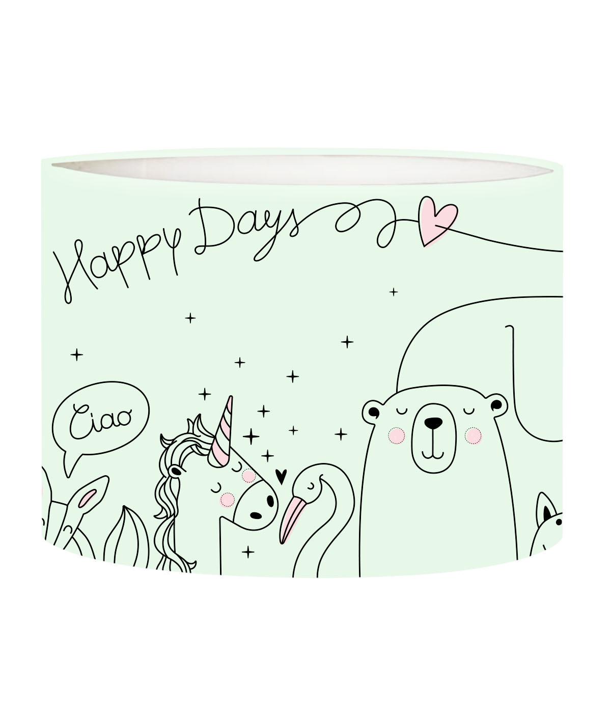 Abat-jour lampadaire enfant Happydays Vert Pastel D 45 x H 25