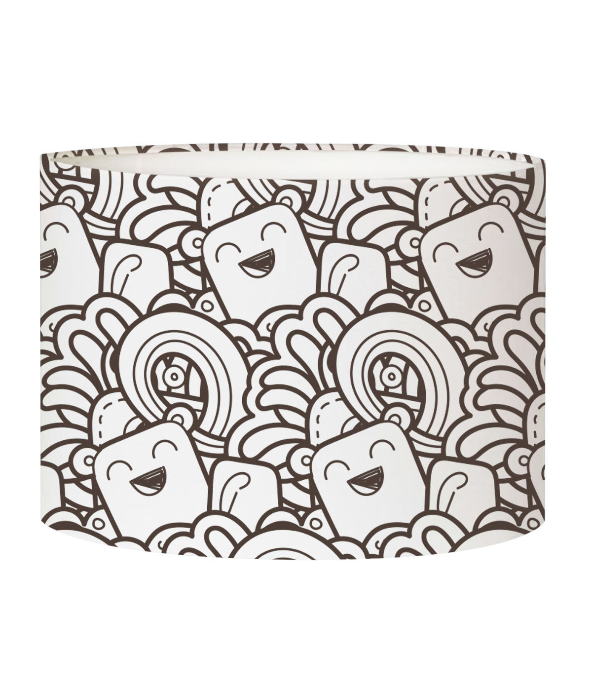 Abat-jour lampadaire enfant doodle Happy D 45 x H 25