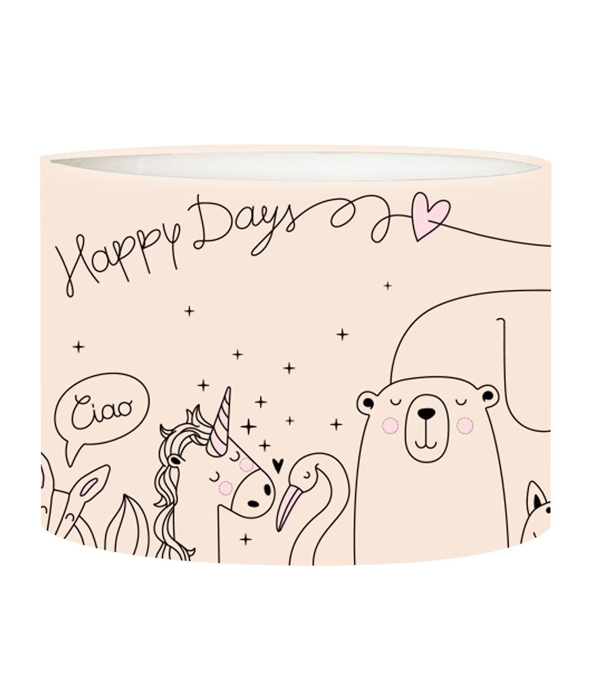 Abat-jour lampadaire enfant Happydays nymphea D 45 x H 25