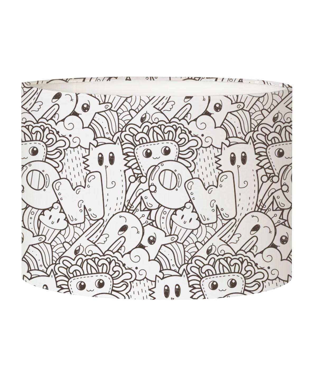 Abat-jour lampadaire enfant doodle Fête D 45 x H 25