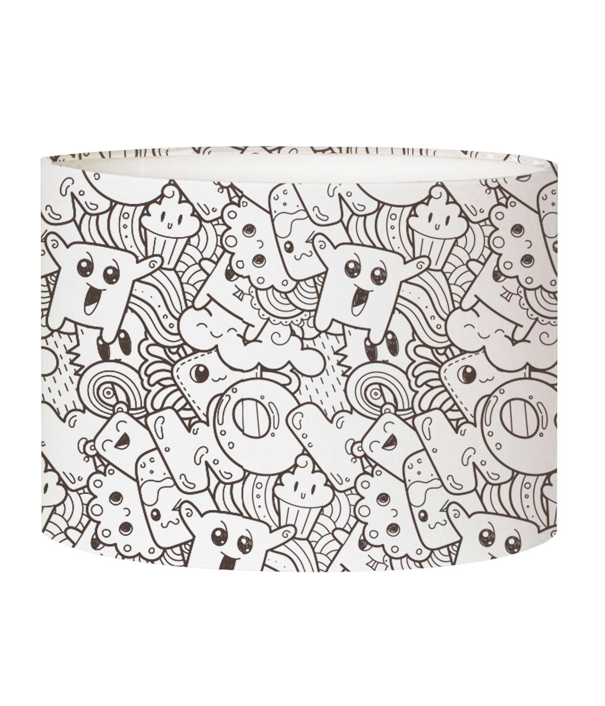 Abat-jour lampadaire enfant doodle PopCorn D 45 x H 25