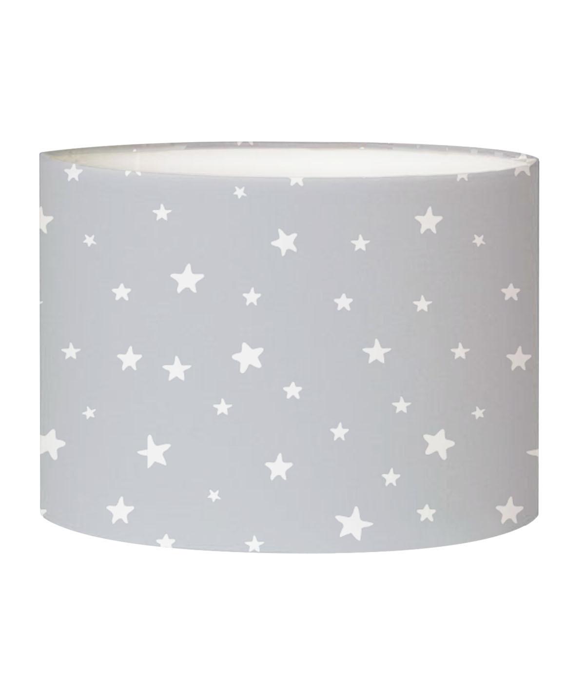 Abat-jour chevet enfant étoiles Gris D 25 x H 20