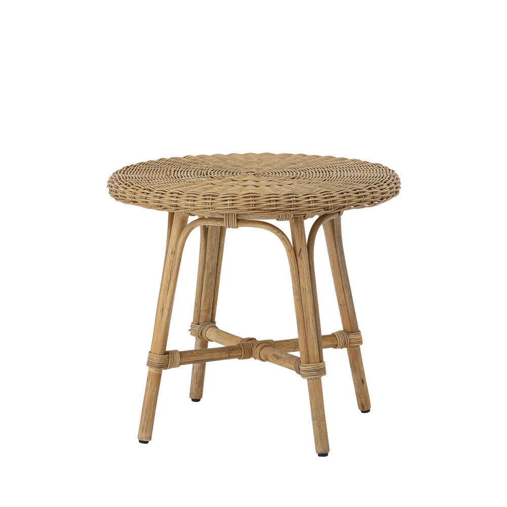 Table d'appoint ronde en rotin Ines D53cm