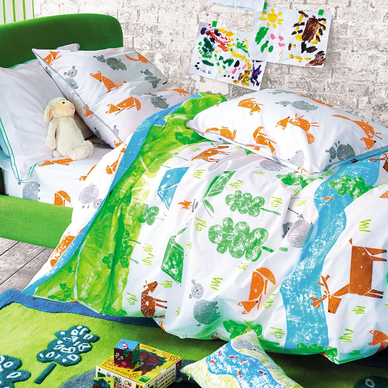 Housse de couette enfant en coton multicolore 140x200