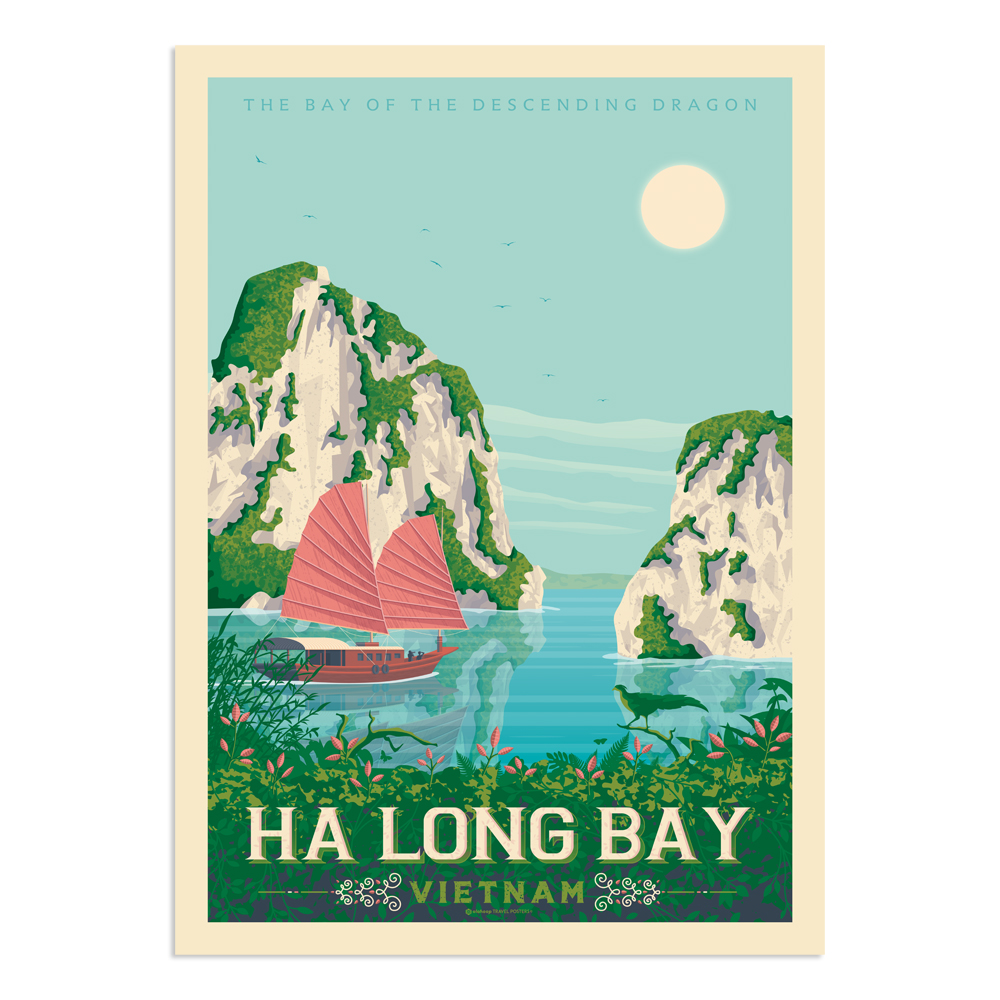 Affiche Ha Long Bay  30x40 cm