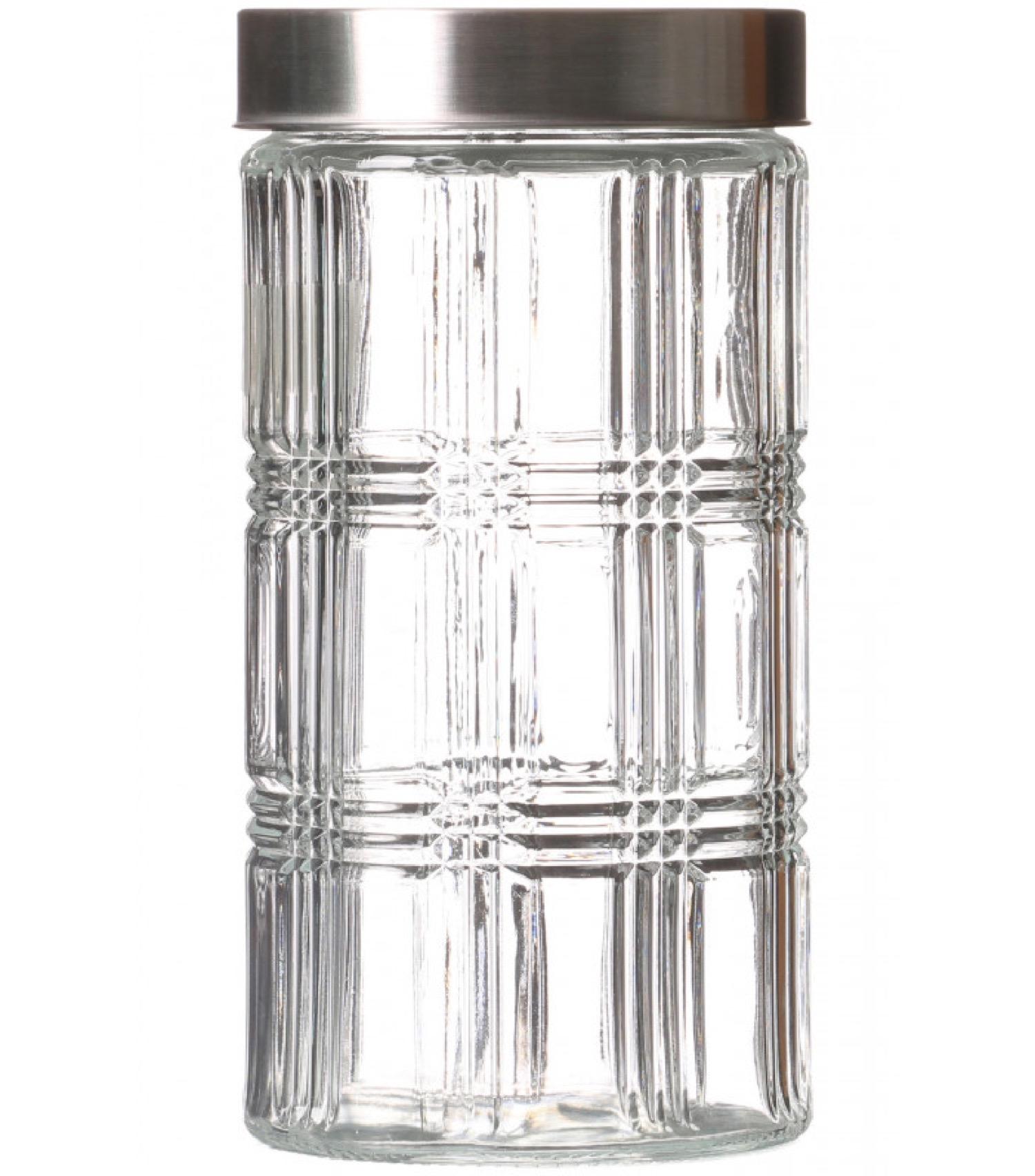 Bocal cuisine hermétique en verre avec couvercle inox 1700ml