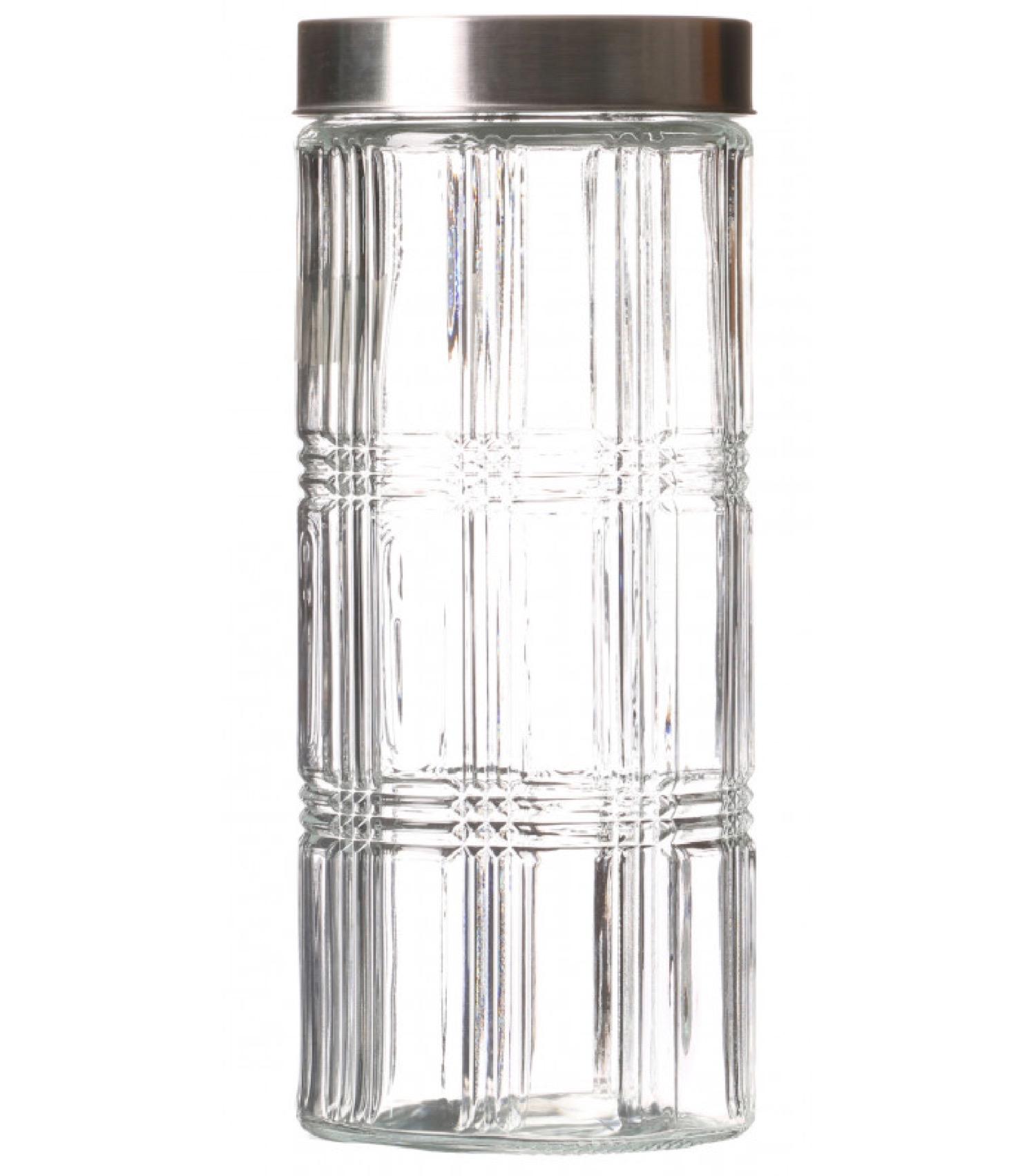 Bocal cuisine hermétique en verre avec couvercle inox 2200ml