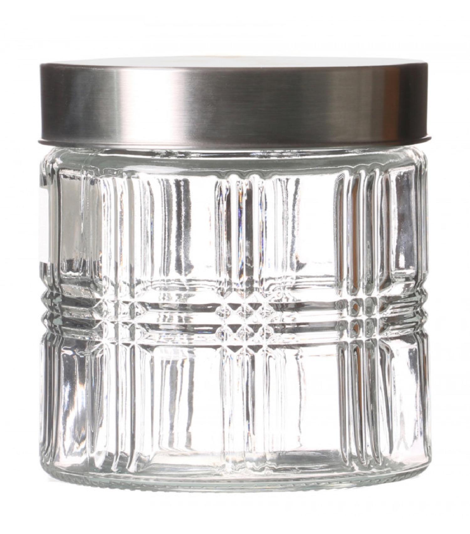 Bocal cuisine hermétique en verre avec couvercle inox 800ml