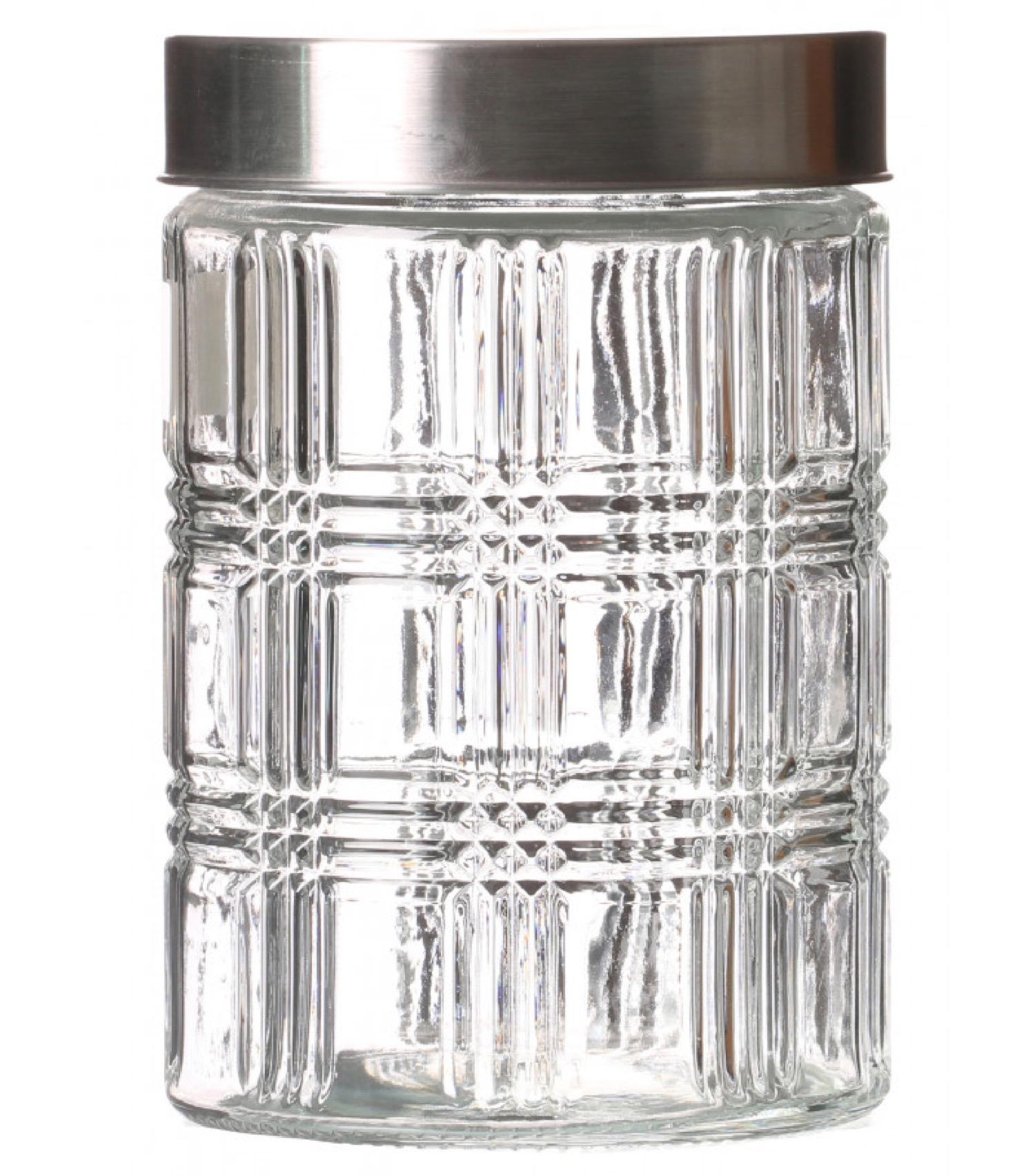 Bocal cuisine hermétique en verre avec couvercle inox 1200ml
