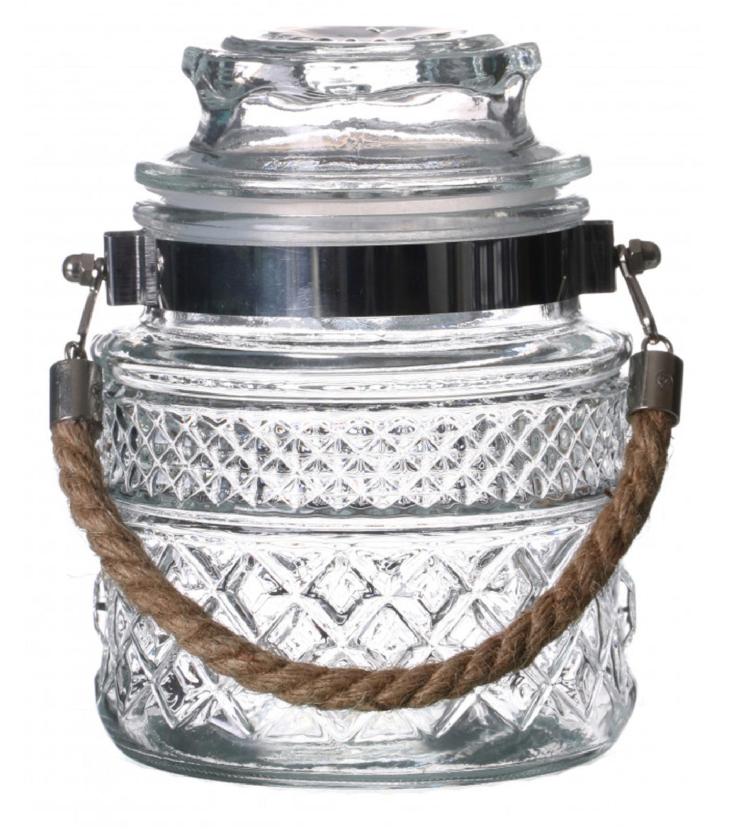 Bocal cuisine hermétique en verre avec anse en jute 1000ml