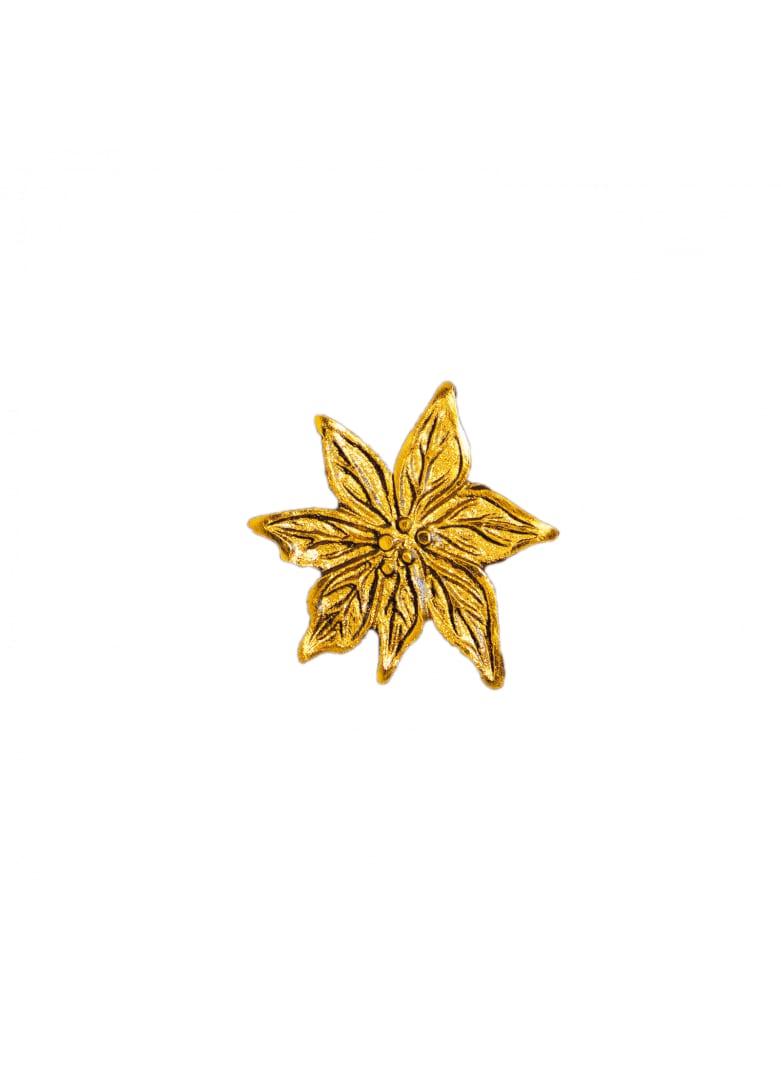 Bouton de porte edelweiss doré