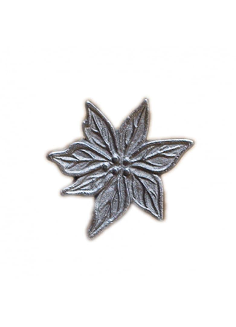 Bouton de porte edelweiss argenté mat