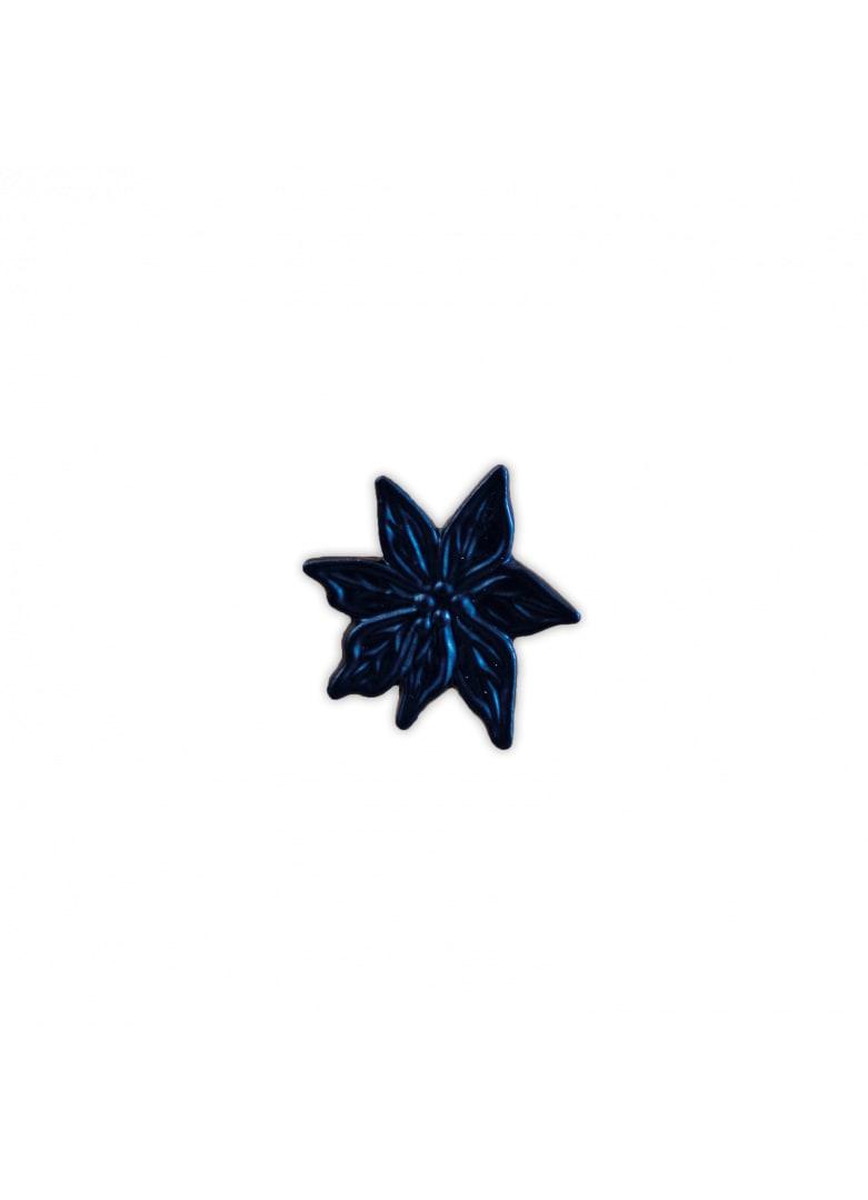 Bouton de porte edelweiss noir