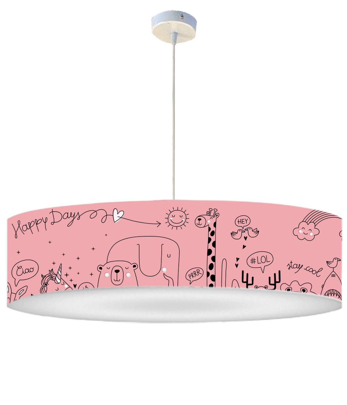 Suspension Enfant Happydays Rose doux D 60 x H 30