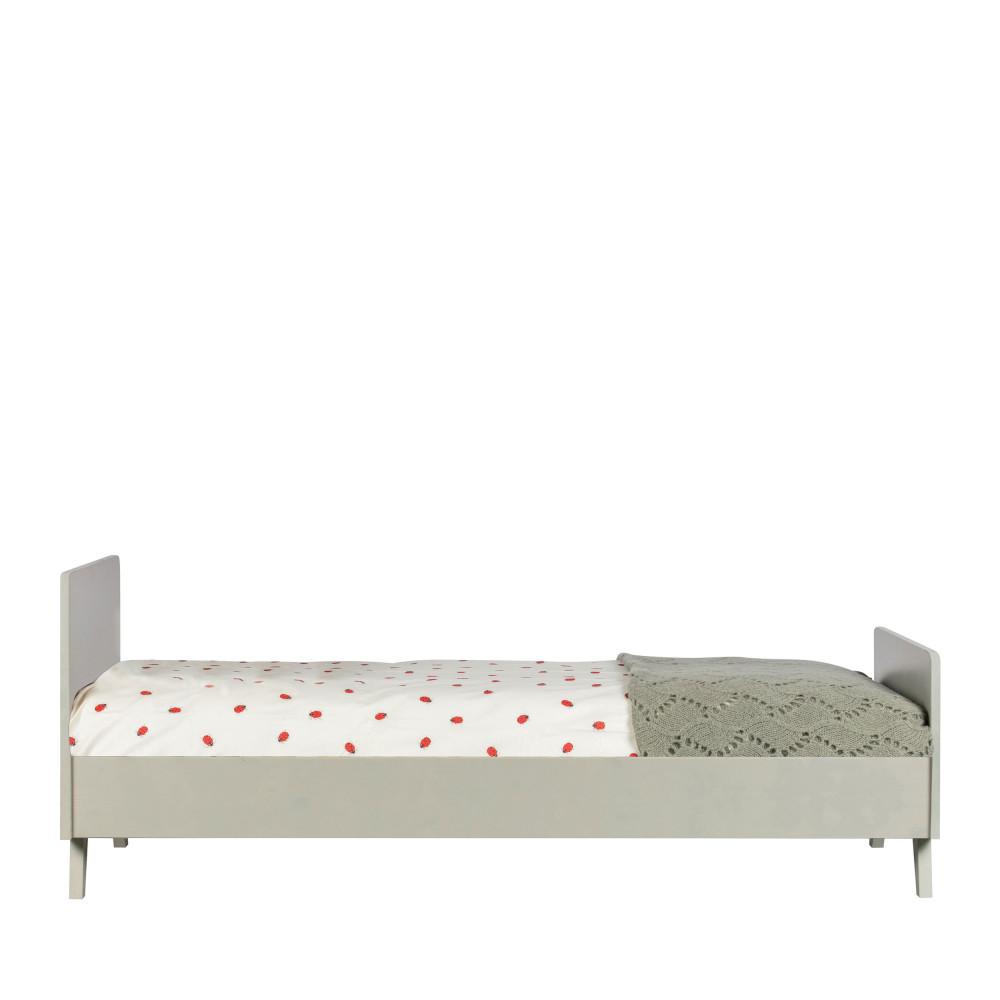 Cadre de lit pour enfant 90x200 en pin massif vert de gris