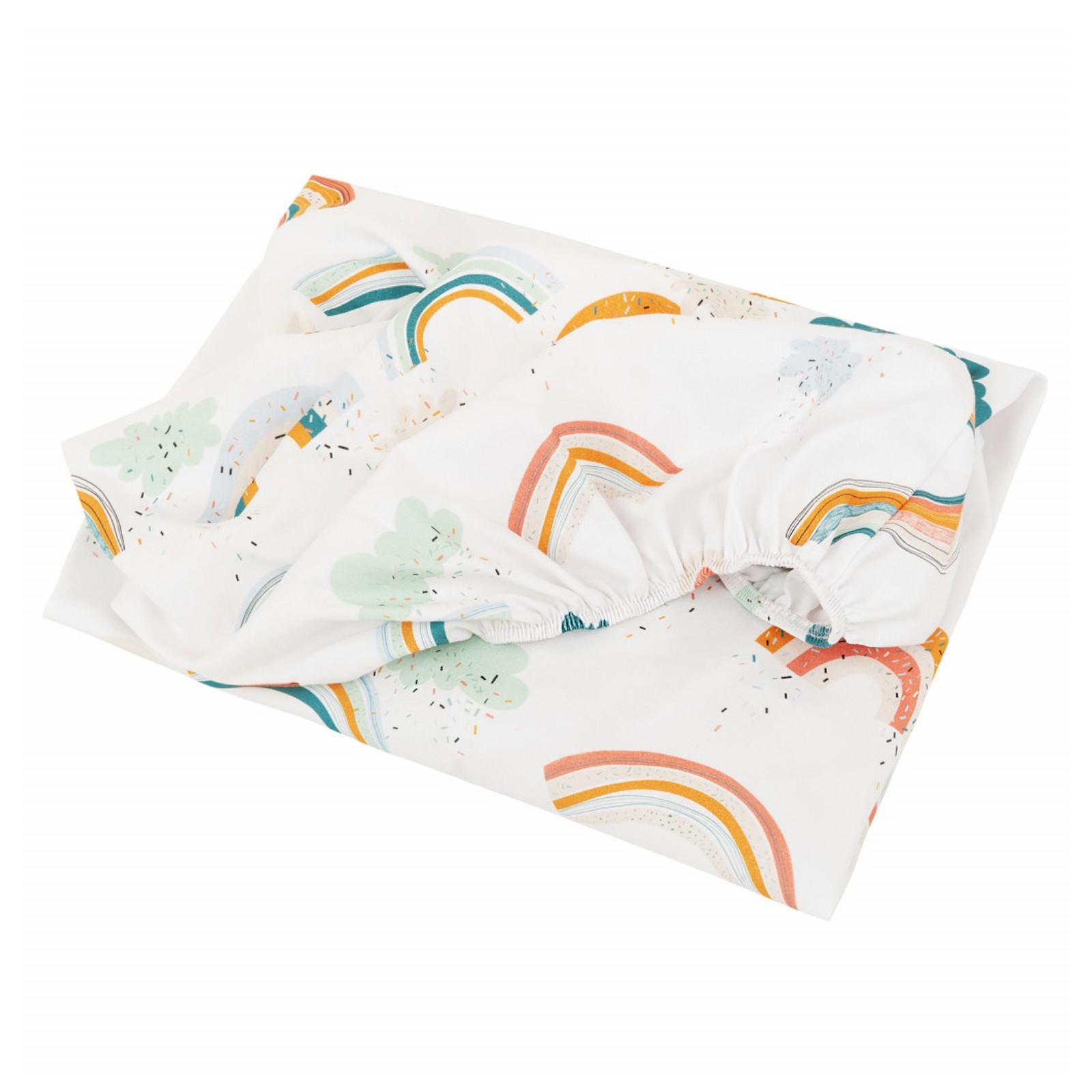 Drap housse bébé en coton multicolore 60x120
