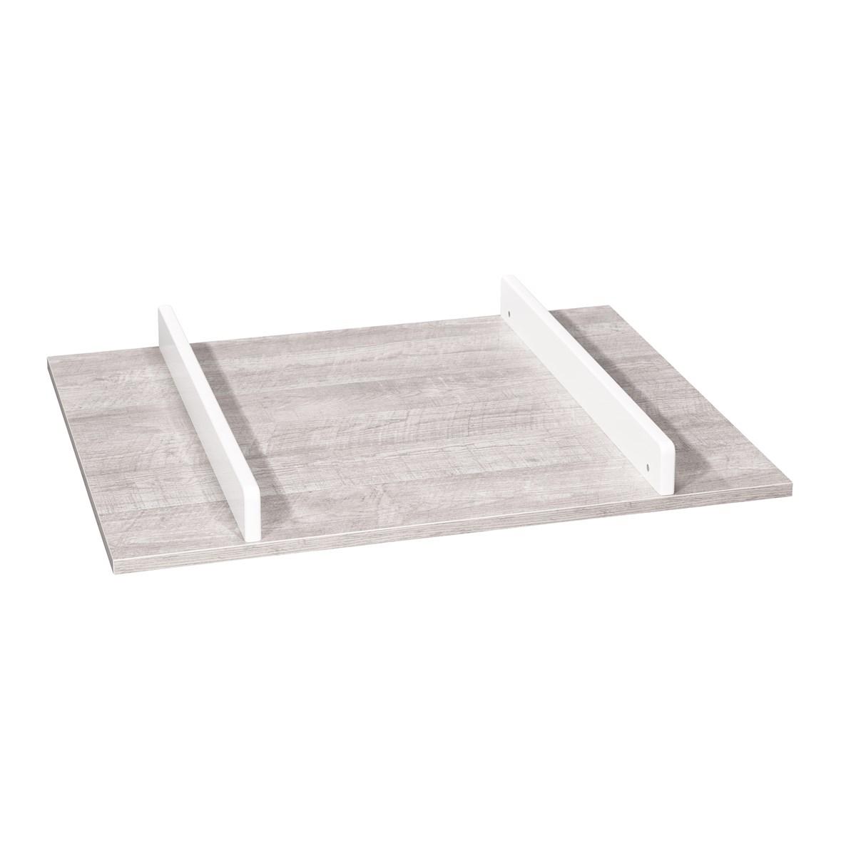 Plan à langer en bois gris