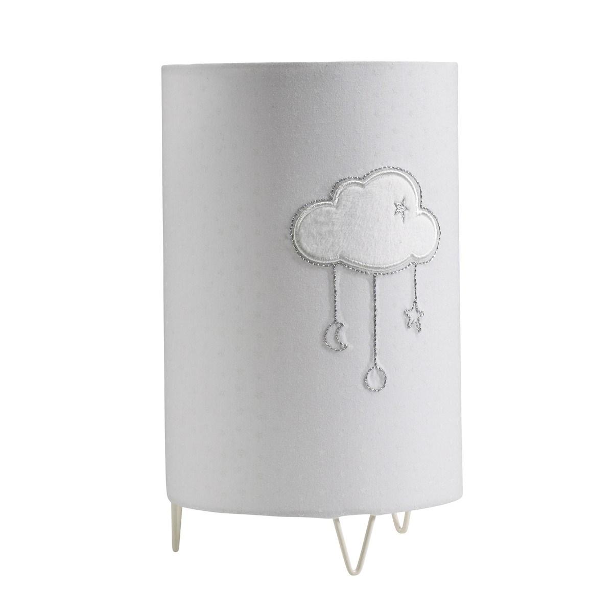 Luminaire et détail nuage en coton gris