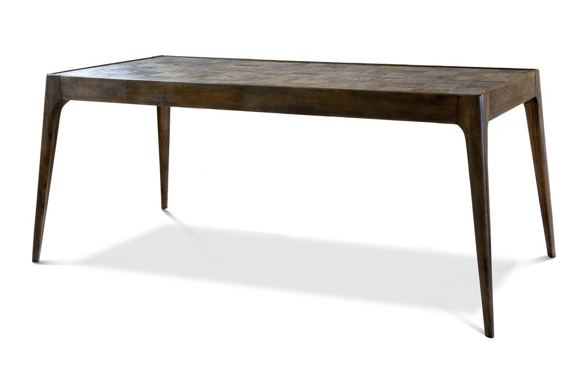 Table à diner en bois marron