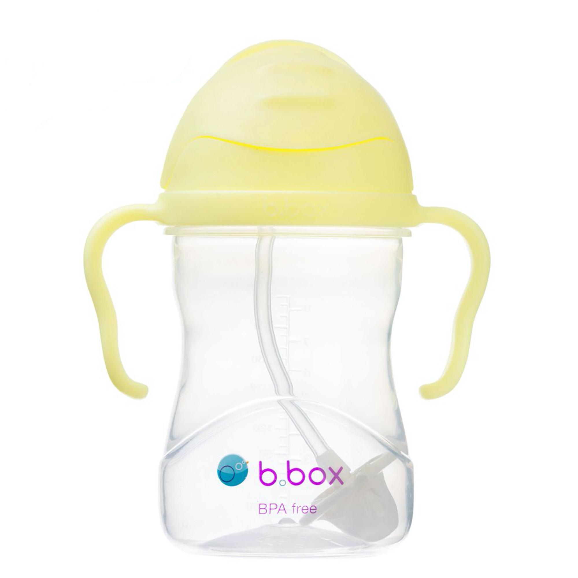 Tasse d'apprentissage avec paille pondérée jaune bébé