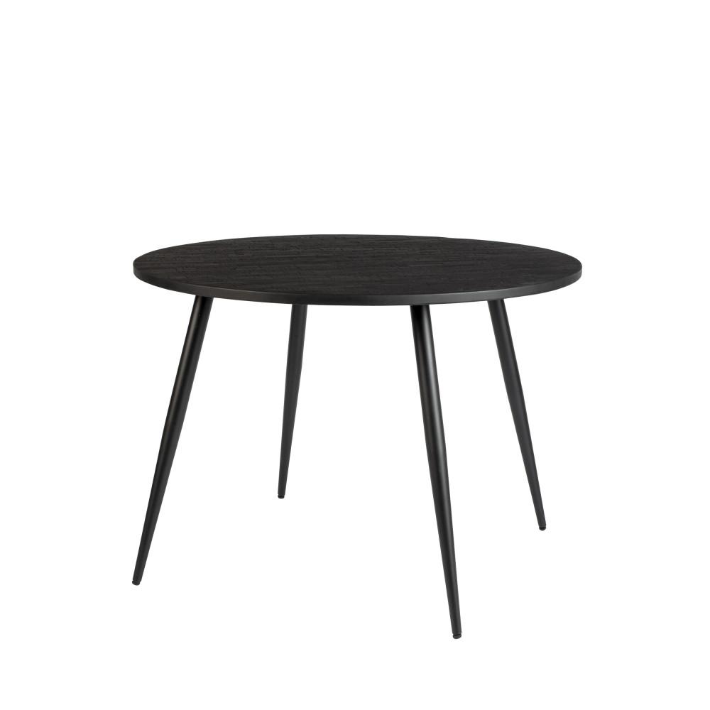 Table de repas ronde bois noir D110