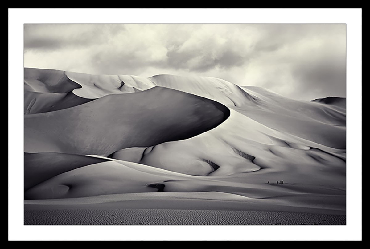 Affiche paysage désert du ténéré Affiche sous cadre noir