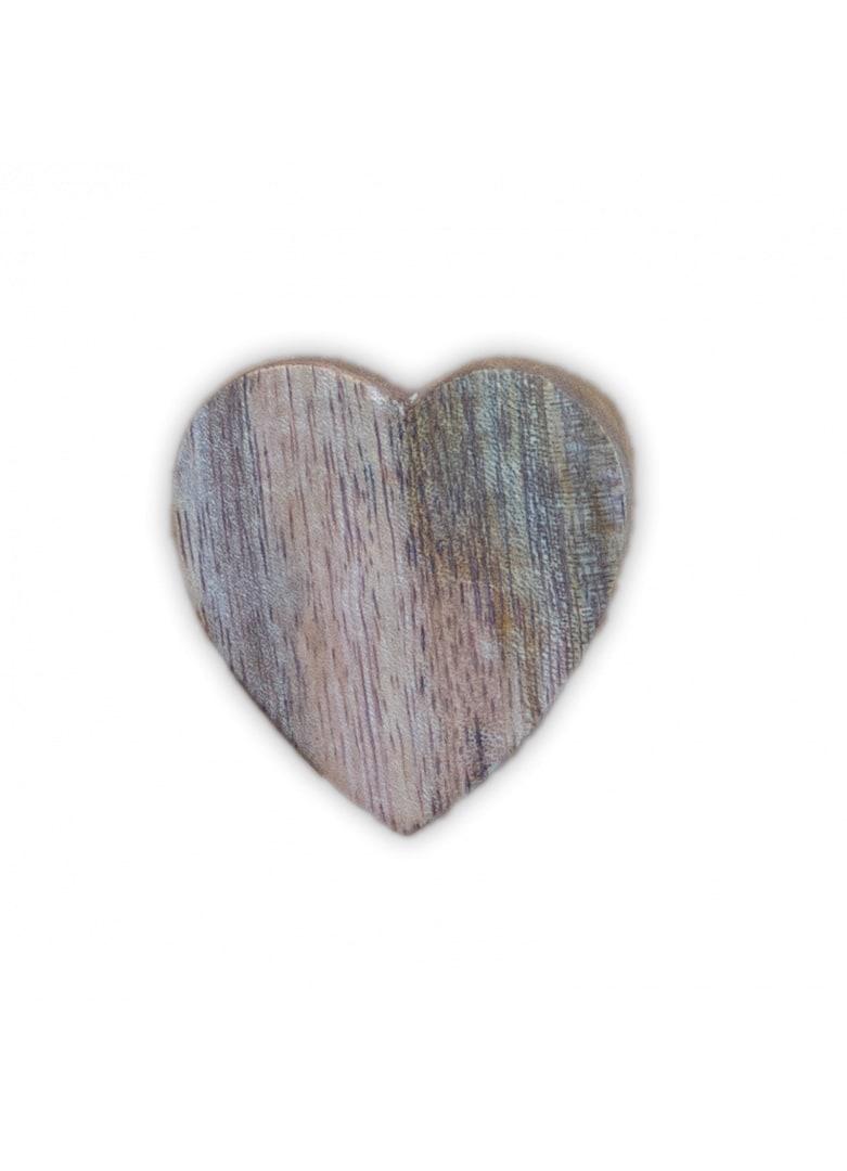 Bouton de porte coeur bois