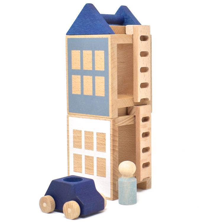Jeu de construction Petite ville d'Hiver