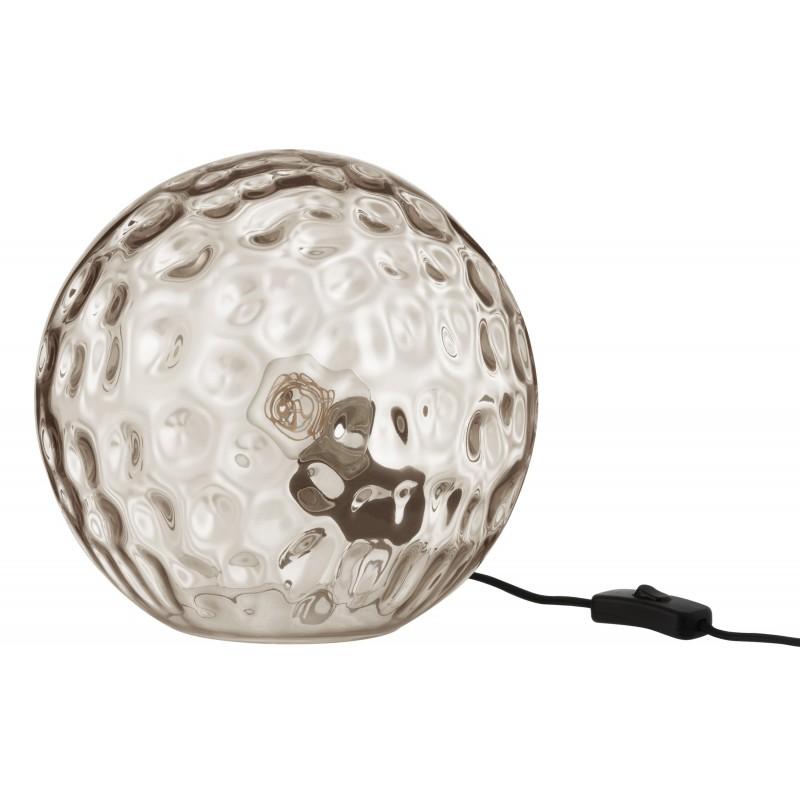 Lampe de table verre gris clair H41,5cm