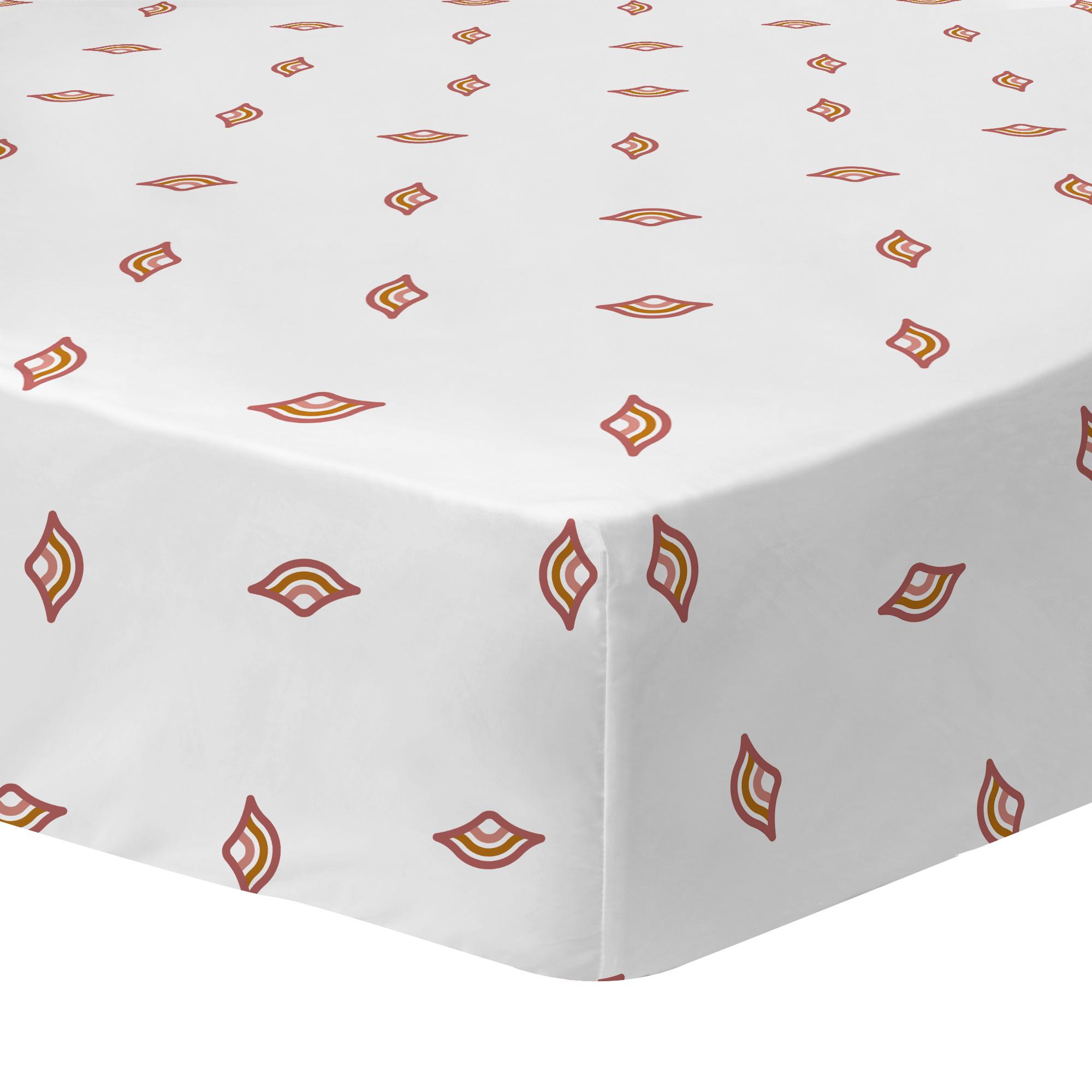Drap-housse imprimé en percale de coton 160x200 cm