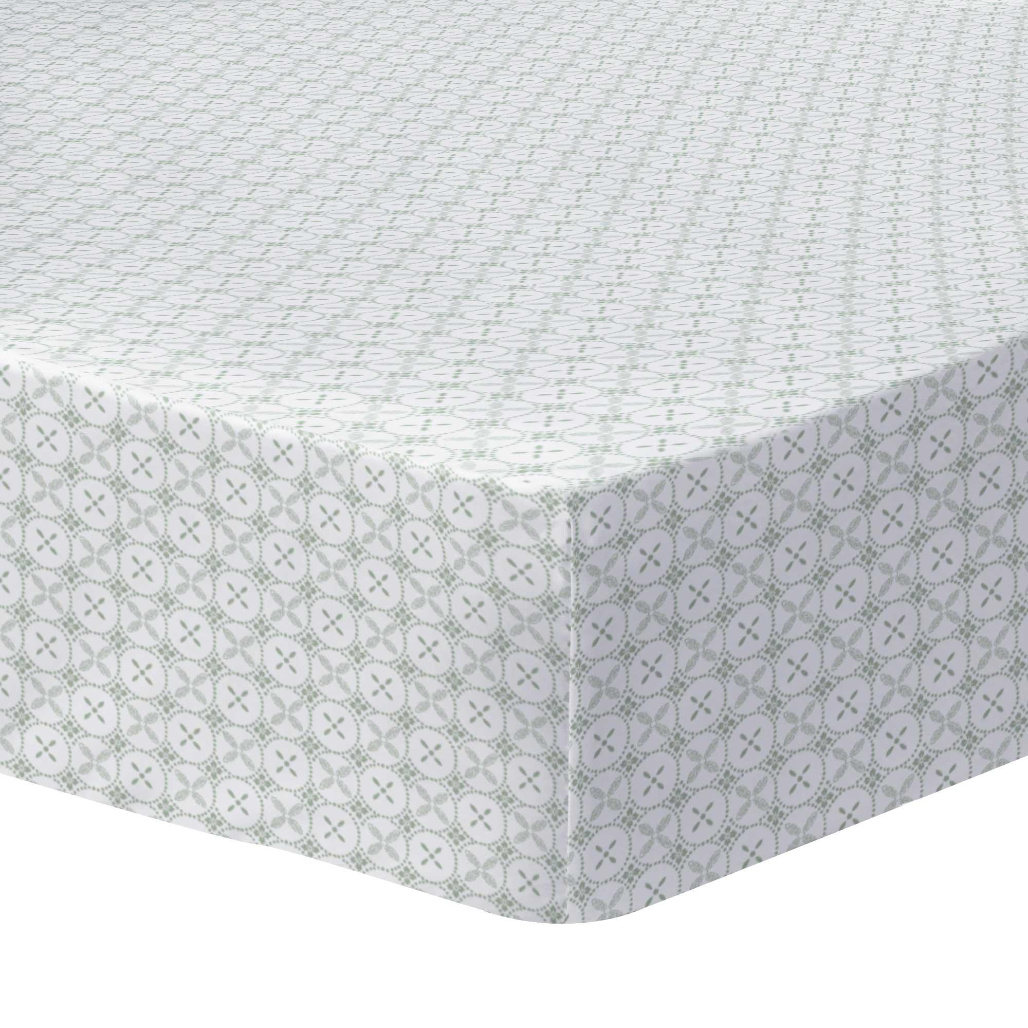 Drap-housse imprimé en coton 140x200 cm