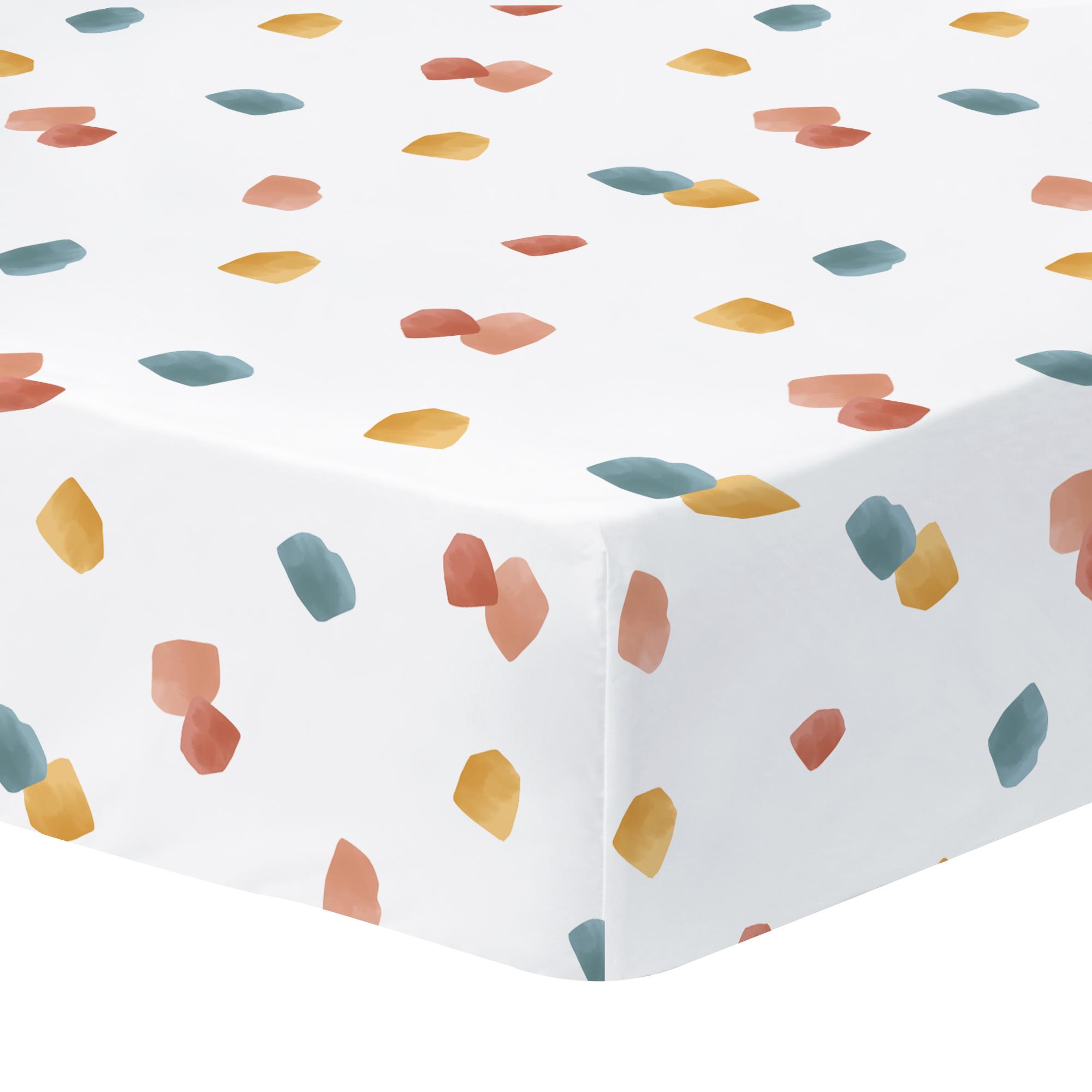 Drap-housse imprimé en percale de coton 140x200 cm