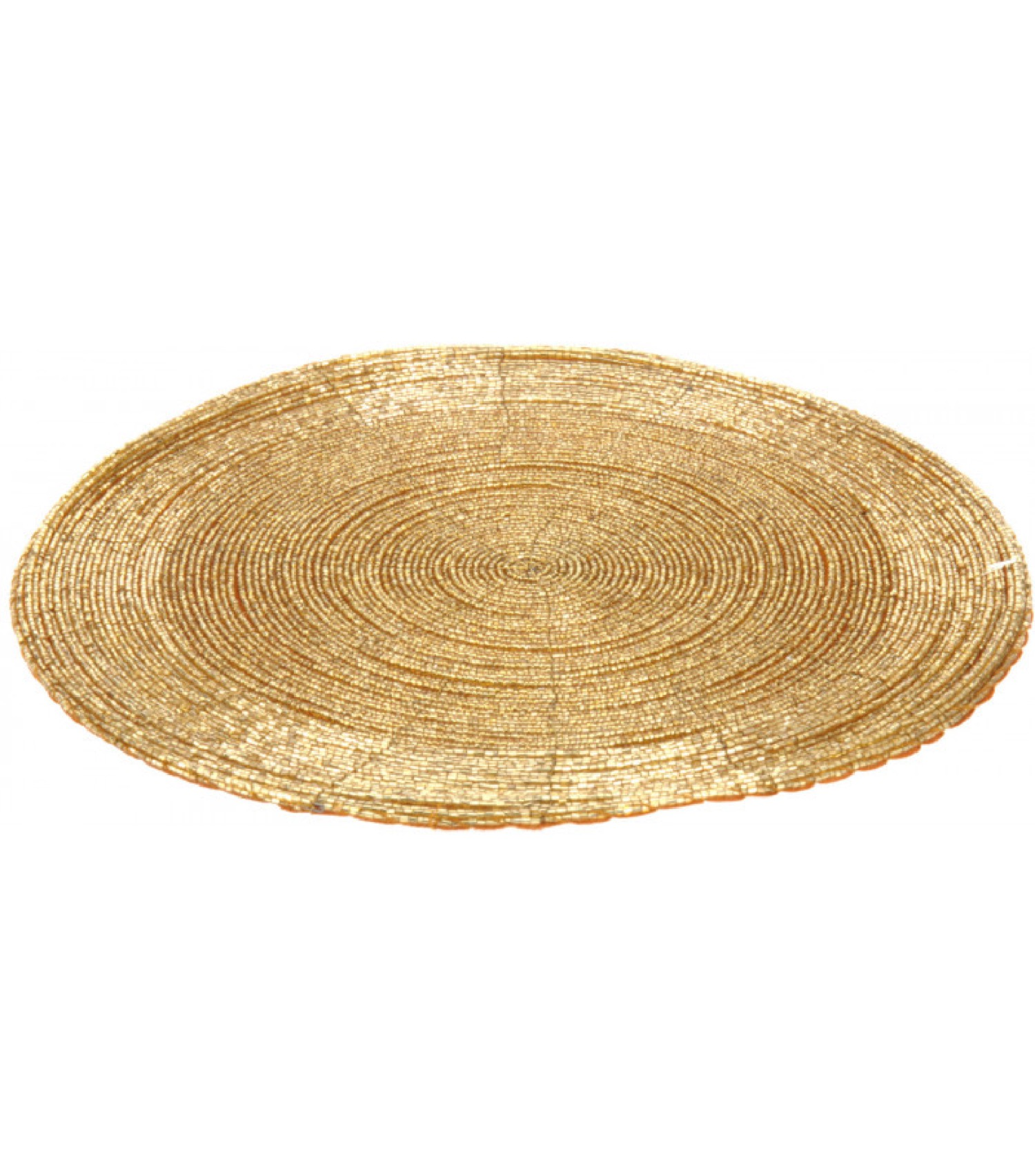 Set de table rond perles dorées D30cm