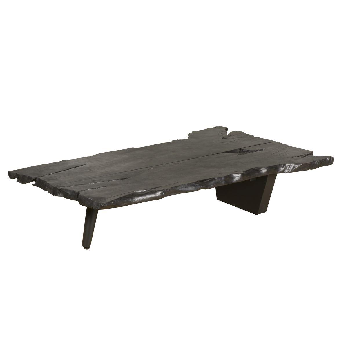 Table basse en bois de litchi noir