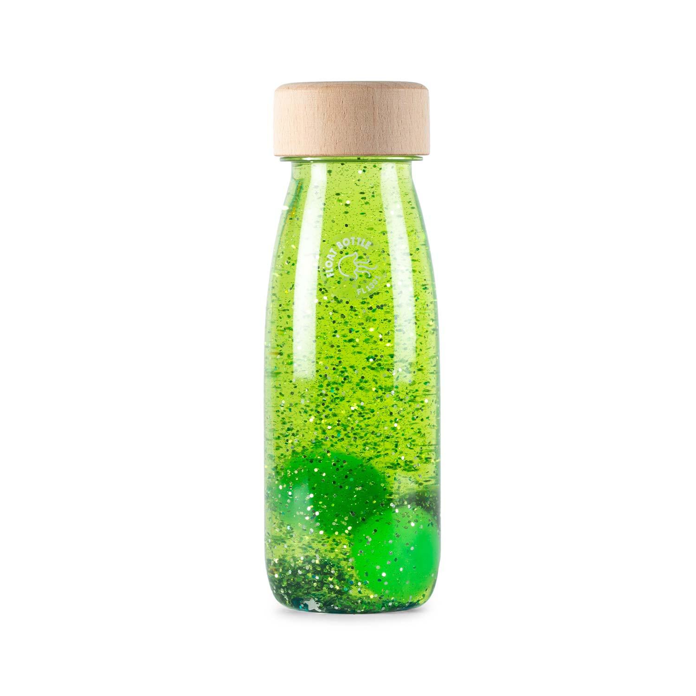 Bouteille sensorielle float magic  vert bébé