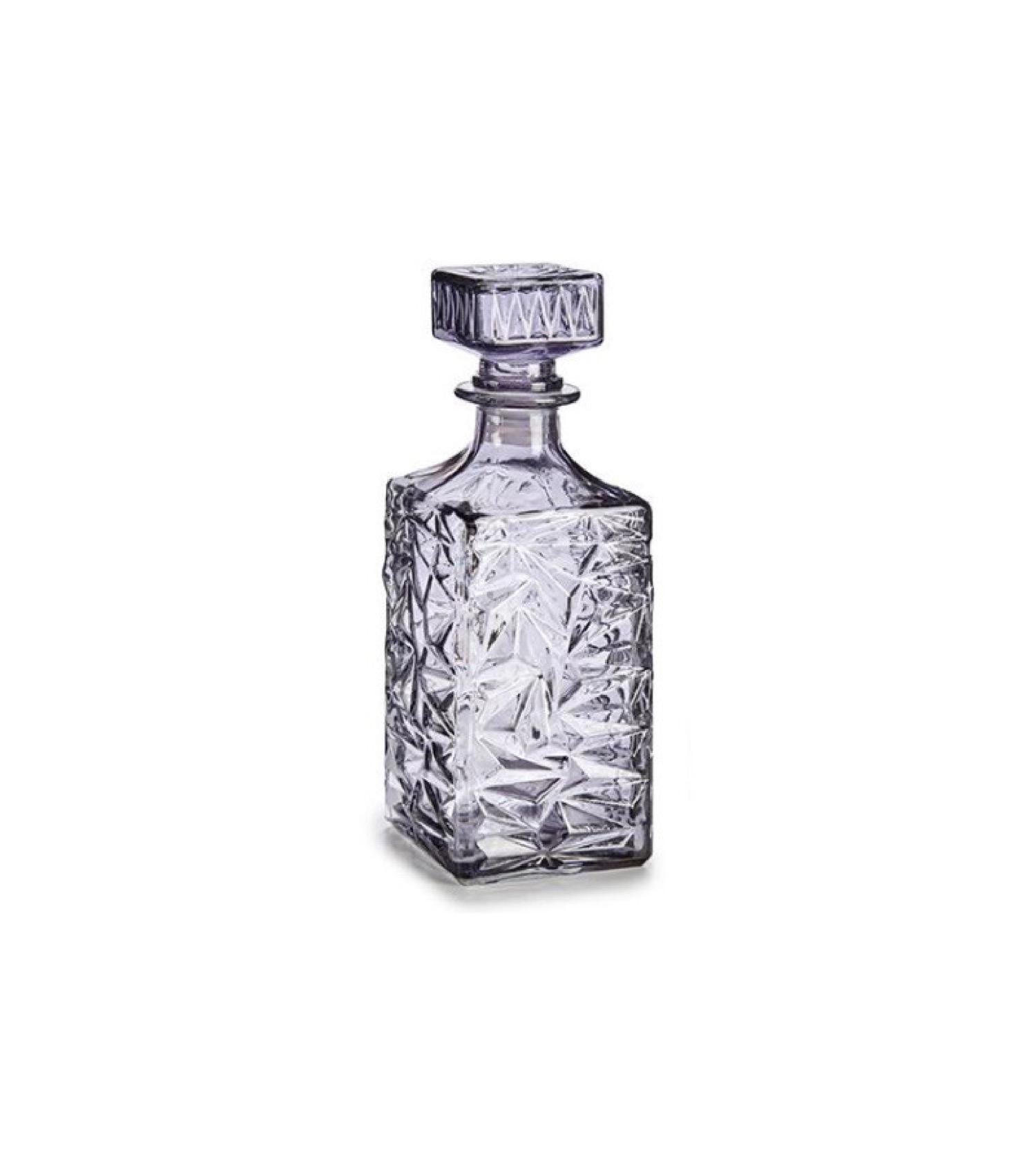Carafe à whisky en verre taillé anthracite 1L