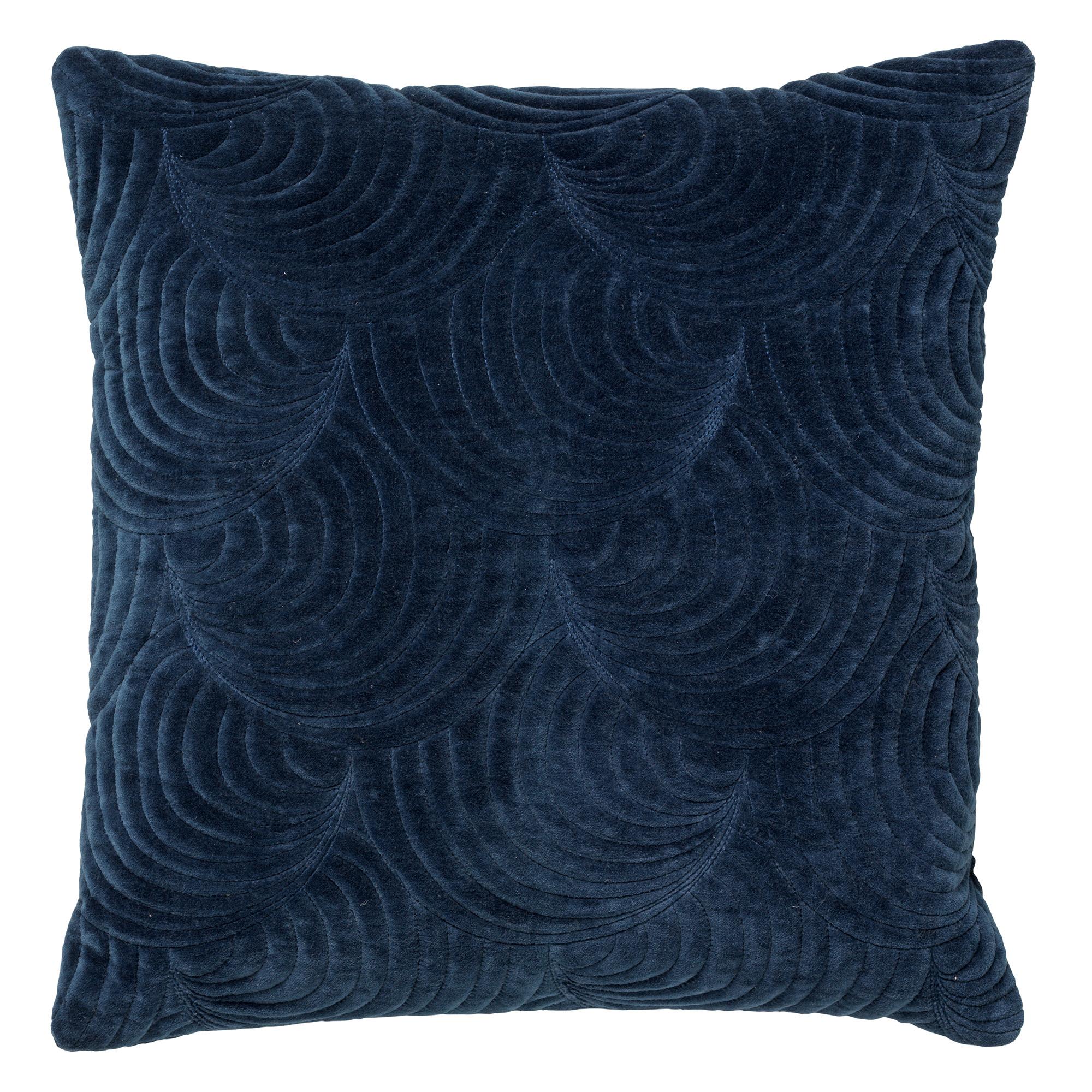 Coussin en velours Bleu saphir 45x45